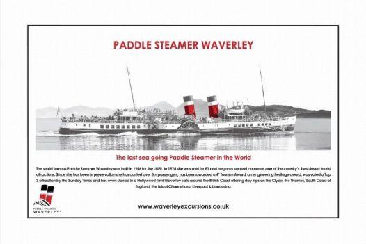 Waverley Paddle Steamer Key Ring /& Fridge Magnet Set